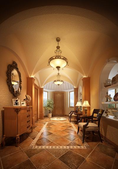 麓山国际装修,成都别墅装修,美式别墅装修效果图