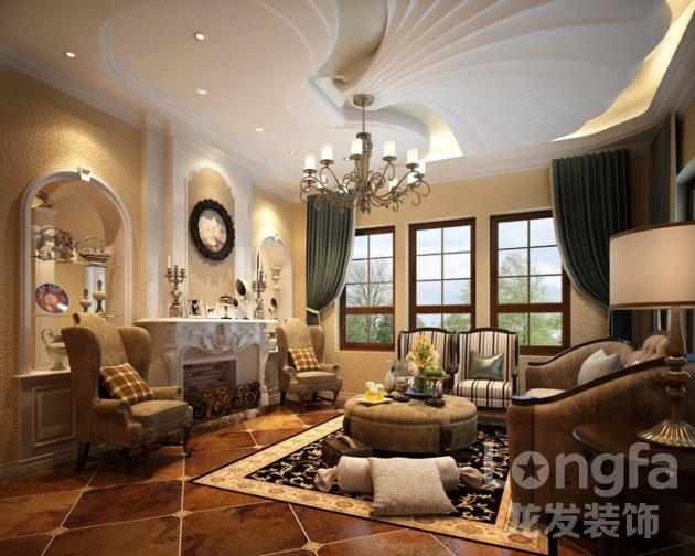 麓山国际300平米美式别墅装饰装修效果图
