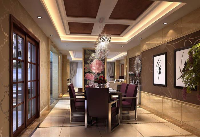 140平米房子现代风格装修设计效果图,是由成都龙发装饰公司设