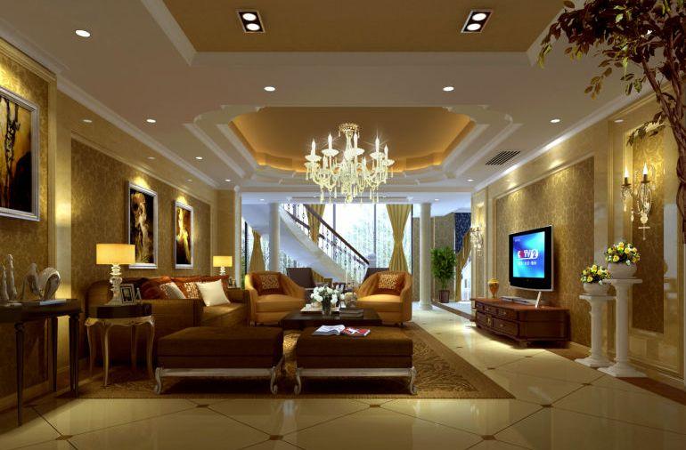 成都置信丽都花园220平米房子欧式风格装修设计案例