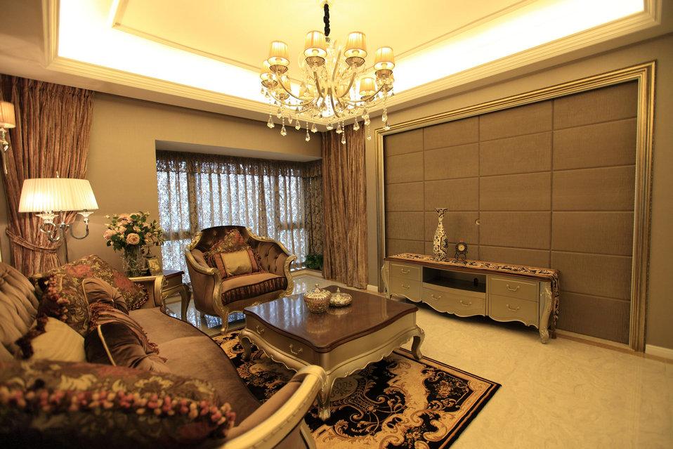 东苑欧式风格160平米房子装修设计案例