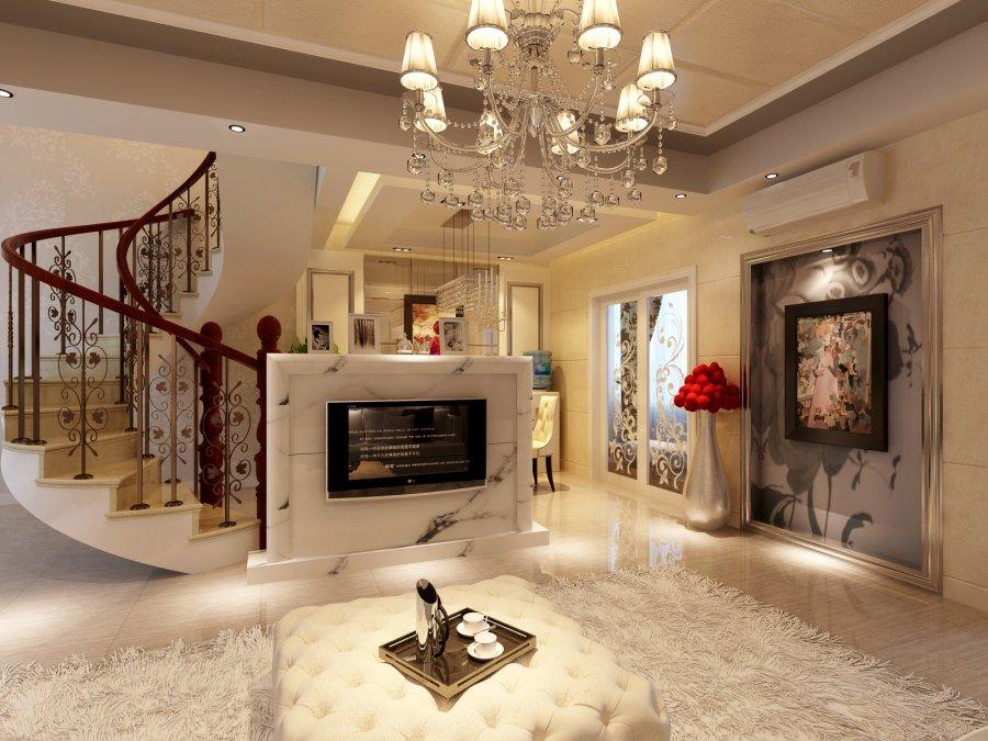 华宇蓉国府120平米跃层房子现代风格装修设计案例